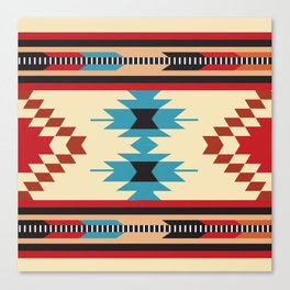 American Native Pattern No. 37 Canvas Print