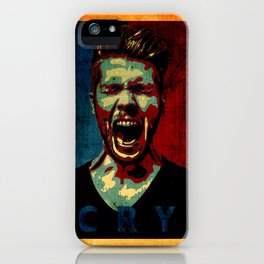 cry poster  iPhone Case