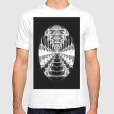 Black+White Abstract.Modern. Mens Fitted Tee MEDIUM White