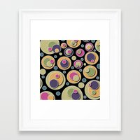 dots Framed Art Prints featuring Dots by Shelly Bremmer