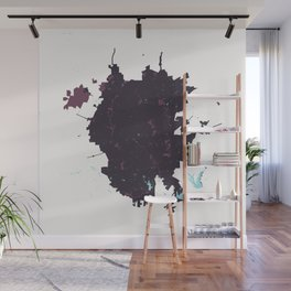 San Antonio Texas Minimalist Map (Plum) Wall Mural