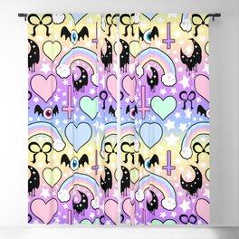 Pastel Goth Collage Blackout Curtain