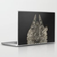 millenium falcon Laptop & iPad Skins featuring Millennium Falcon by Eric Dufresne