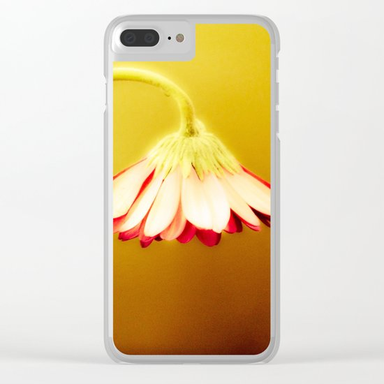 Flower | Flowers | Glowing Yellow Drooping Flower Clear iPhone Case