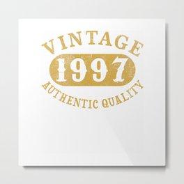 23 years old 23rd Birthday, Anniversary Gift Vintage 1997 T-Shirt Metal Print