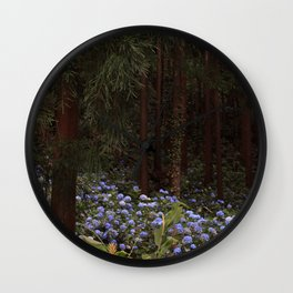 Mystic Forest - Hydrangeas Wall Clock