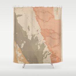 Vintage Lake Winnipeg Geological Map (1899) Shower Curtain