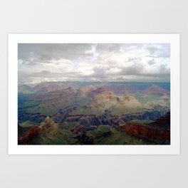 Cloudy Grand Canyon II Art Print
