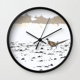 Ring-necked Pheasant 3 Wall Clock