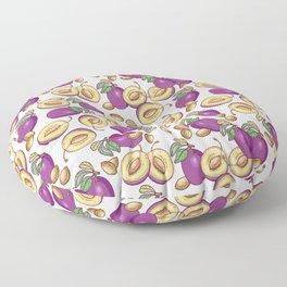 Romantic plum pattern Floor Pillow