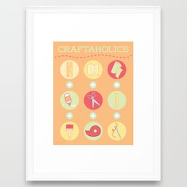 Craftaholics Framed Art Print