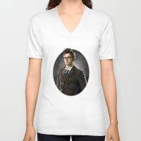david tennant V-neck T-shirts featuring David Tennant - Doctor Who 2 by KanaHyde