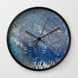 freeze glass with trees Wall Clock