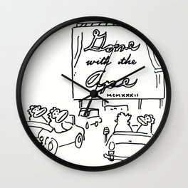 Apes at the Drive-In Movies Wall Clock