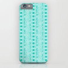 Lacey Lace - White Teal iPhone 6s Slim Case
