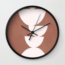 Abstract Balancing Shapes I Wall Clock
