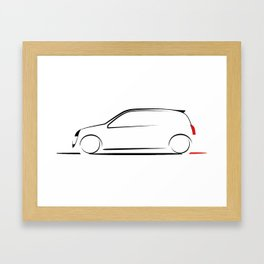 Clio silhouette Framed Art Print