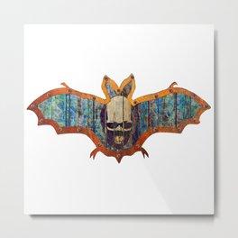 Handmade Hallowwen Bat Decoration In A Retro Style Metal Print