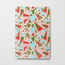 Modern Christmas Pattern Metal Print