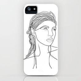 Line Art Woman iPhone Case