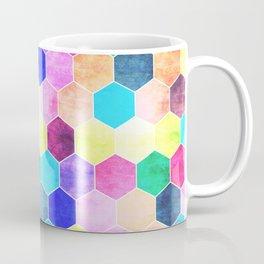 Honeycombs print, colorful hexagons Coffee Mug