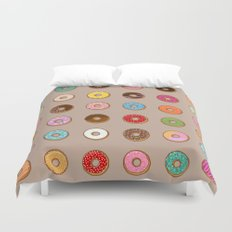 Colorful Doughnuts Duvet Cover