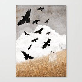 Walter and The Crows Canvas Print