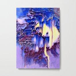 Stormy ocean waves calming night abstract Metal Print