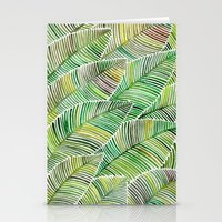 tropical Stationery Cards featuring Tropical Green by Cat Coquillette