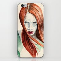 ginger iPhone & iPod Skins featuring Ginger by Roxie Emm