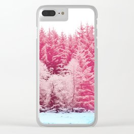 Candy pine trees Clear iPhone Case