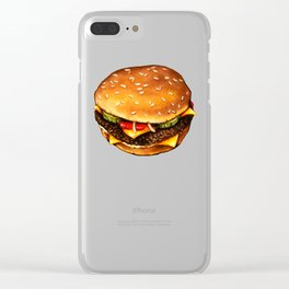 Cheeseburger Pattern 2 Clear iPhone Case