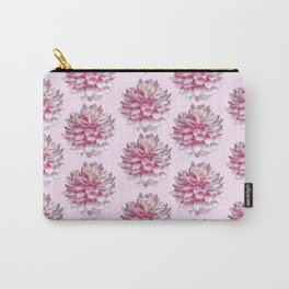 Dahlias on pink Carry-All Pouch