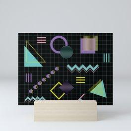 Memphis Pattern 4 - 80s Retro Mini Art Print