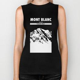 Mont Blanc France Alps Art Mountain climbing Biker Tank