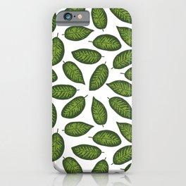 dieffenbachia leaves tropical pattern iPhone Case