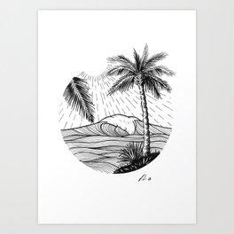Tropical wave Art Print