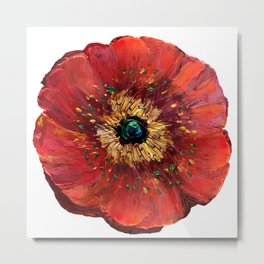Red Poppy Metal Print