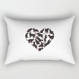 Cats are love - black Rectangular Pillow