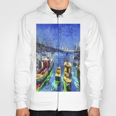 Boats and Sea Impressionist Art Hoody