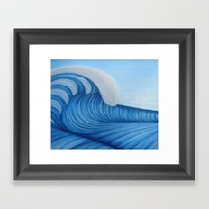 Surf a Big Wave Framed Art Print