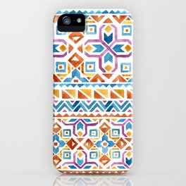 Geometric colorful Watercolor Pattern iPhone Case