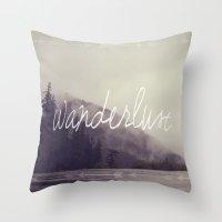 wanderlust Throw Pillows featuring Wanderlust by Christine Hall
