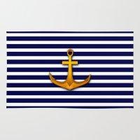 marine Area & Throw Rugs featuring Marine by Elena Indolfi