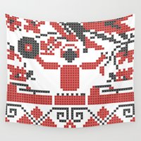 diablo Wall Tapestries featuring Ethno DJ by Sitchko Igor