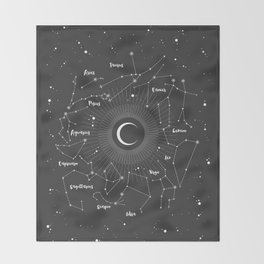 Constellations Map Throw Blanket