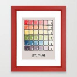 Love is love rainbow watercolor Framed Art Print