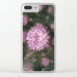 Chive bubbles Clear iPhone Case