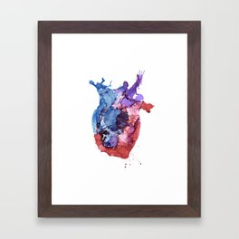 Anatomical Heart Framed Art Print