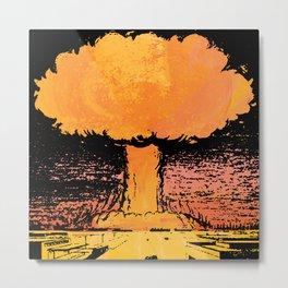 Drop The Bomb Metal Print